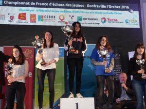 Honorine Auvray, vice-championne de France Cadette